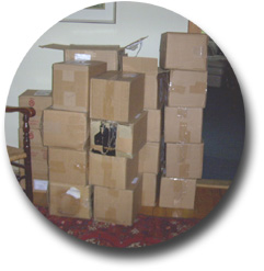Boxes of Donated Materials